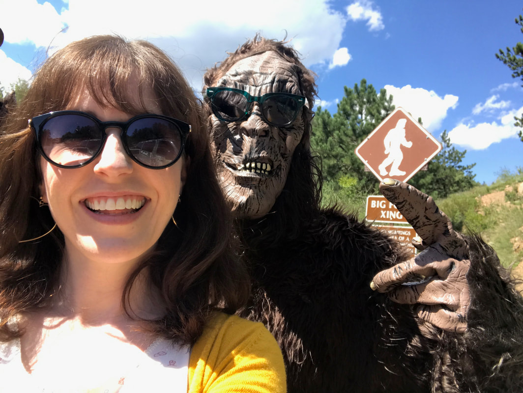 Brittany meets Bigfoot on the Pikes Peak Highway